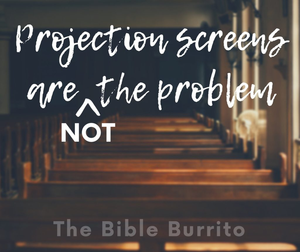 Projection screens are not the problem
